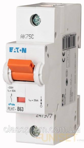 Автоматический выключатель 1-полюс. PLHT-D63 EATON