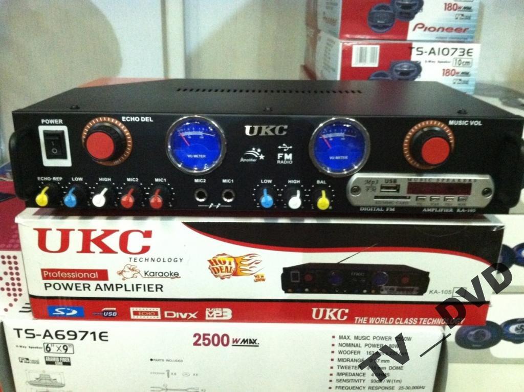 Усилитель Звука UKC FM USB Караоке ДУ 2 x 150 Вт
