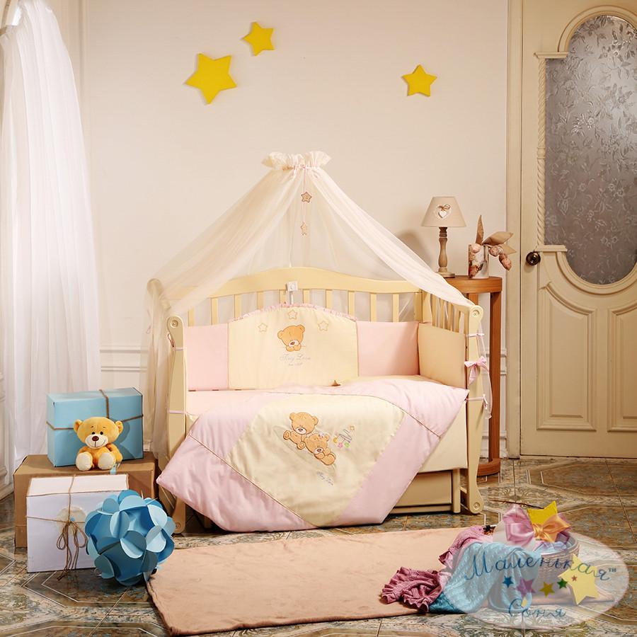 Детский постельный комплект Tiny Love (Розовый, 7 элементов), Маленькая Соня