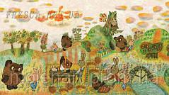 Современные фрески для детской со сказочными героями