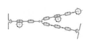 Ø 4 мм / Трёхконцевая цепь для привязи КРС / ВРХ / Скота / Коров, фото 3