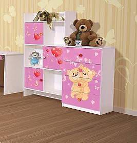 Шкаф книжный Мульти Мишки (Світ Меблів ТМ)