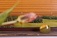 Жалюзи горизонтальные бамбуковые натуральные производство под заказ