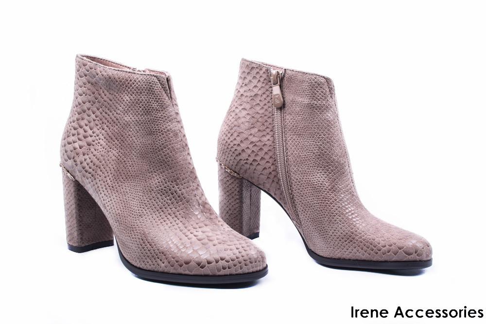 087145485270 Ботильоны женские нубук Angelo Vani (ботинки цвет визон, байка с 35р)