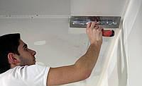Шпаклевка потолка под обои