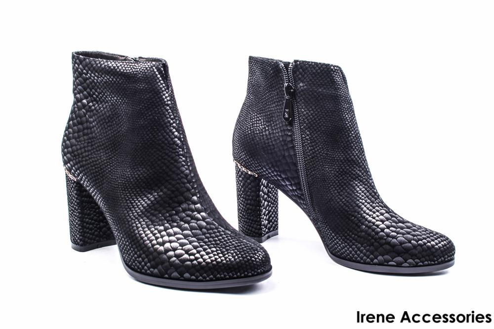 e28bcb1a043a Ботильоны женские нубук Angelo Vani (ботинки под рептилию, черные, байка с  35р): купить по ...