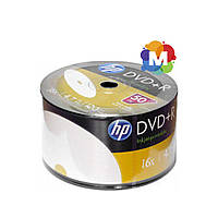 Диски Hewlett-Packard (НР) DVD+R 4,7 GB 16x Full surface inkjet printable Bulk/50
