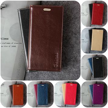 """Nokia Lumia 630 635 оригинальный чехол книжка ИЗ НАТУРАЛЬНОЙ ТЕЛЯЧЬЕЙ КОЖИ кожаный для телефона """"IMK CLASIC"""""""