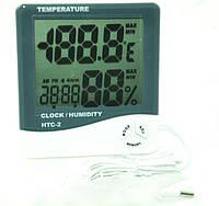 Метеостанция с часами TS ― HTC 2 (измер. температуру и влажность, часы, наружный датчик температур)     .  dr