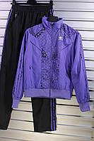 Костюм спортивный женский, фиолетовый