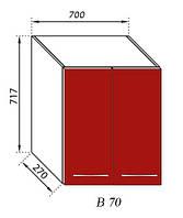 Секция В 70 Сандра верхний модуль красный (Світ Меблів ТМ)