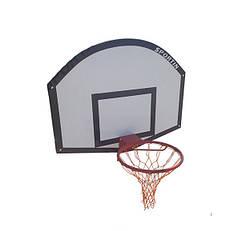 Щит стритбольный с кольцом и сеткой 1200х900мм фанера ВВ0101