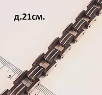 Мужской браслет-цепь со стальными звеньями