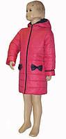 Пальто для девочки демисезонное цвета фиалки 110-116-122 см