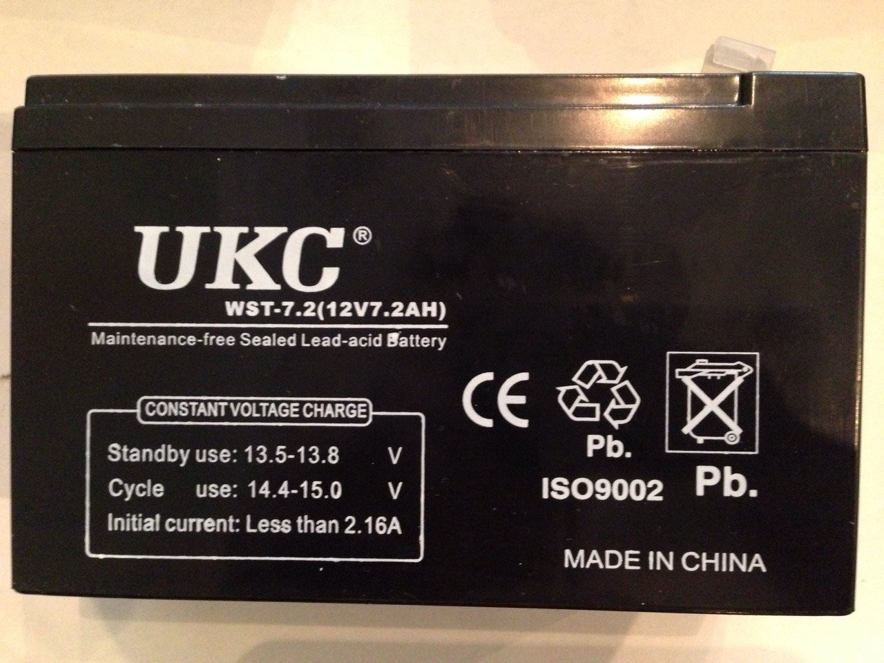 Аккумулятор Батарея UKC 12v 7,2А 12 В 7,2 А