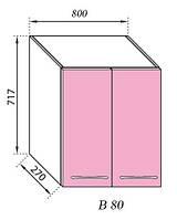 Секция В 80 Сандра верхний модуль розовый (Світ Меблів ТМ)