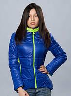 Молодежная демисезонная женская куртка спортивного стиля