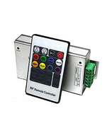 Контроллер RGB для ленты 12V 144W 12A (4A/канал) RF + пульт д/у (белый) 12A-RF-20 кнопок/BIOM