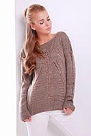 Ажурный вязаный свитер