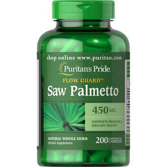 Saw Palmetto 450 mg Puritan's Pride 100 Caps, фото 2