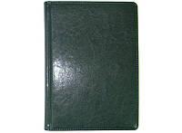 Ежедневник недатированный BRISK OFFICE SARIF Стандарт А5(14,2х20,3) зеленый с фольгированным торцом