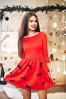 Женское платье с бантиками