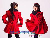 Детское кашемировое пальто Черный воротничек