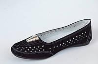 Мокасины туфли летние женские замша черные