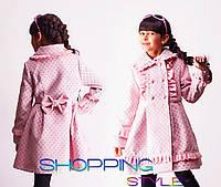 Детское кашемировое пальто Панда горох