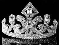 Диадема корона на обруче с гребешками, высота 6,5 см