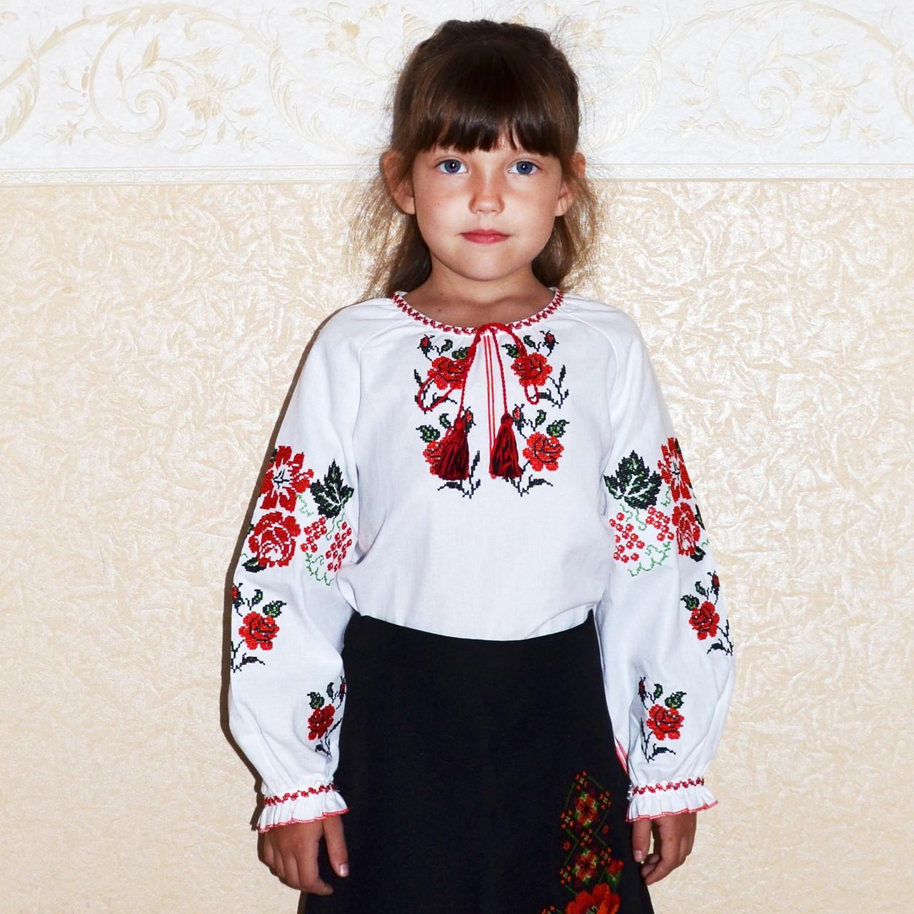 Вышиванка для девочки Калинка - vipdar.com.ua в Броварах a4f51d83dccc5