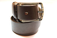 Ремень кожаный гладкий коричневый 'Andro' 35 мм