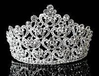 Диадема корона на обруче с гребешками, высота 7 см