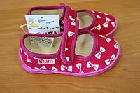 Тапочки в садик на девочку, текстильная обувь Vitaliya, ТМ Виталия Украина, р-р.19- 22,5