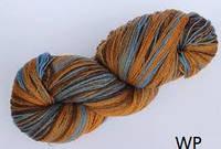 Цветная пряжа Кауни Brown Blue 400  Пряжа из 100% овечьей шерсти подходит для ручного вязания рукоделия