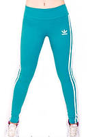 Леггинсы для фитнеса Adidas бирюза