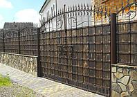 Кованные ворота (металл + дерево или только металл) 2500