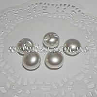 Пуговицы-жемчужины 10 мм, белый (5 шт)