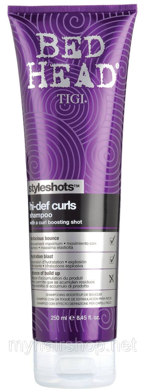 Шампунь для вьющихся волос TIGI StyleShots Hi-Def Curls Shampoo 250мл