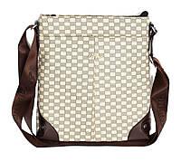 Чоловіча стильна сумка імітація тканини (Е-54076)