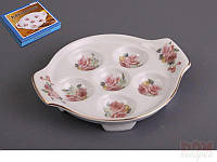 "Тарелка для яиц 6 шт., 14 см. ""Роза"" фарфор"