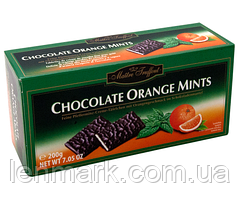 Шоколад с апельсином и ментолом Maitre Truffout Chocolate Orange Mints, 200 г