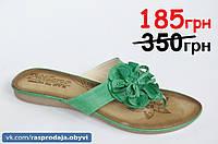 Шлепанцы вьетнамки босоножки женские темно зеленые 40