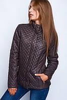 Женские весенние дутые куртки № 31 р.40-48 коричневый