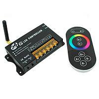 Радио контроллер RGB сенсорный Black (touch controller, 2.G,RF 24А)