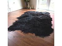 Ковер из черной исландской овчины, из 3-х шкур, фото 1