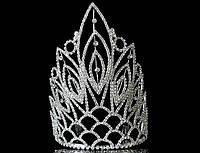 Высокая корона на обруче с гребешками, высота 18 см