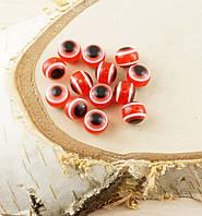 Бусина турецкий глаз пластик 8 мм красная (товар при заказе от 200 грн)