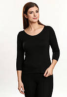Глория черная футболка с рукавом три четверти