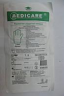 Перчатки латексные стерильные хирургические / размер 7,5  / Medicare